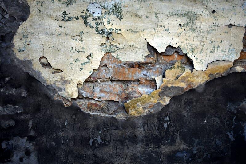 Σύσταση του παλαιού τσιμέντου πέρα από το τουβλότοιχο στοκ εικόνες
