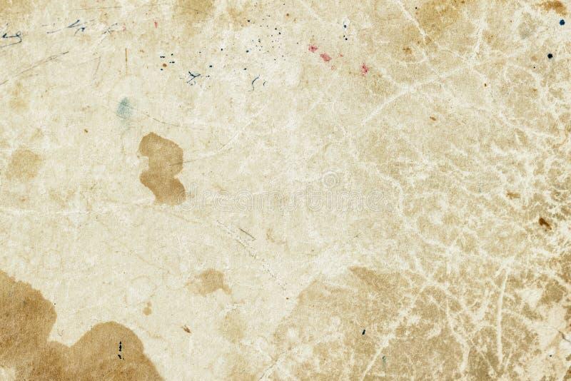 Σύσταση του παλαιού moldy εγγράφου με τους λεκέδες ρύπου, σημεία, κυτταρίνη συνυπολογισμών, καφετί υπόβαθρο σύστασης χαρτονιού, g στοκ εικόνες με δικαίωμα ελεύθερης χρήσης