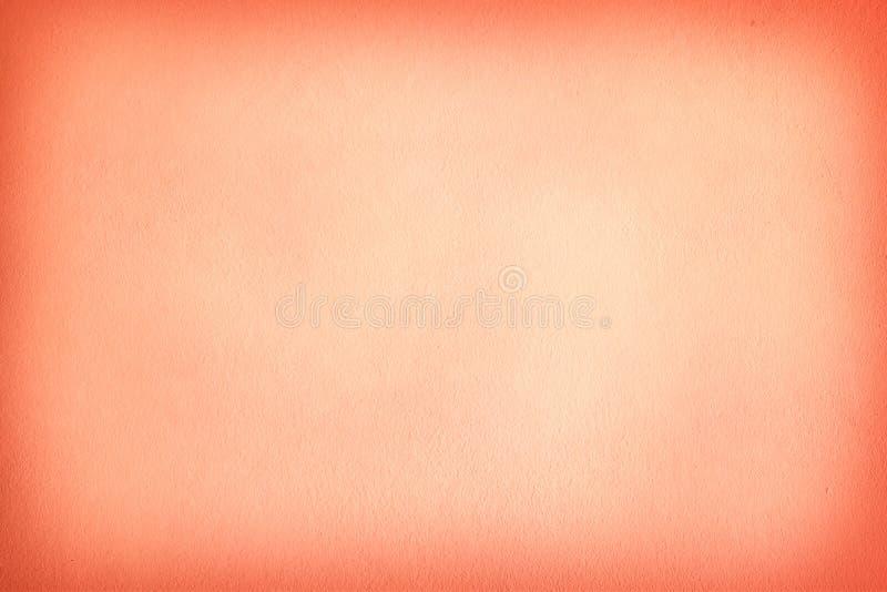 Σύσταση του πορτοκαλιού τοίχου τσιμέντου ομαλός και απλός ένας φωτειν στοκ φωτογραφία με δικαίωμα ελεύθερης χρήσης