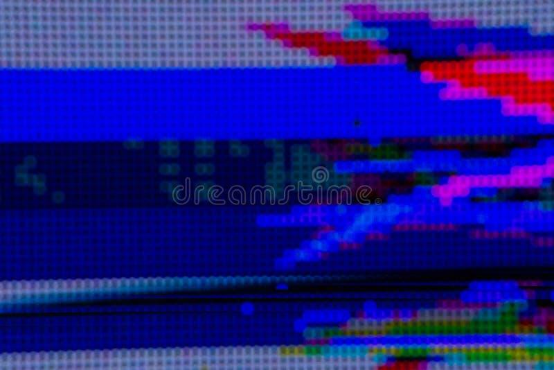 Σύσταση υποβάθρου τέχνης δυσλειτουργίας cyberpunk Ψηφιακή οθόνη δοκιμής Αισθητική έννοια της δεκαετίας του '80 στοκ φωτογραφία με δικαίωμα ελεύθερης χρήσης