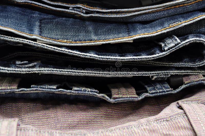 Σύσταση υποβάθρου τζιν τζιν παντελόνι στοκ φωτογραφίες