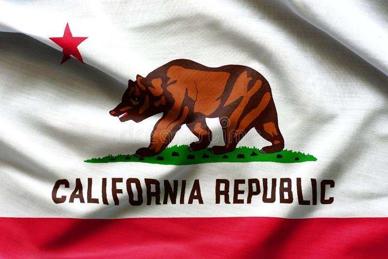 Σύσταση υφάσματος των σημαιών σημαιών Καλιφόρνιας από τις ΗΠΑ στοκ φωτογραφίες με δικαίωμα ελεύθερης χρήσης