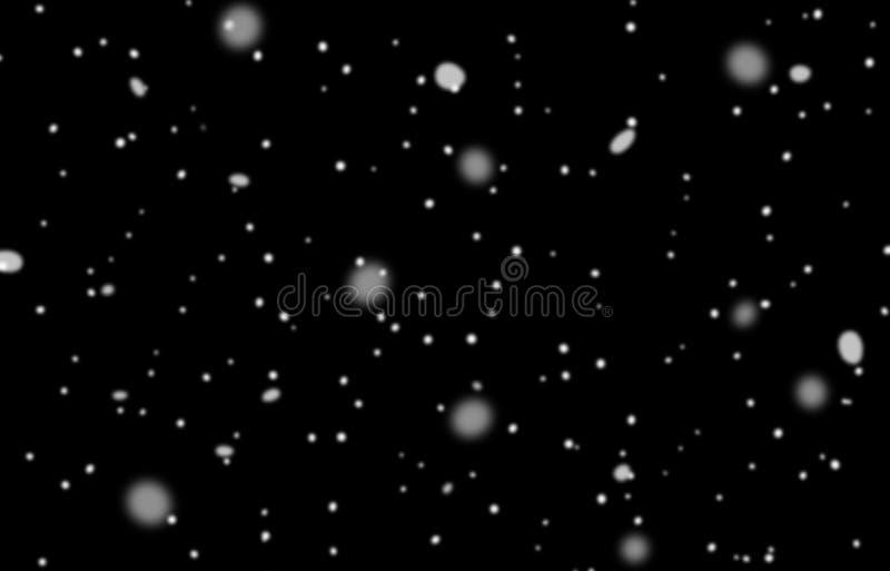 Σύσταση χιονιού, άσπρα snowflakes σε ένα απομονωμένο ο Μαύρος υπόβαθρο Για να παρεμβάλει στην επικάλυψη mode_ διανυσματική απεικόνιση