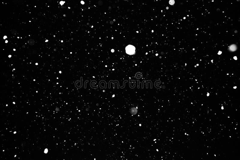 Σύσταση χιονοθυελλών σε ένα μαύρο υπόβαθρο στοκ φωτογραφία