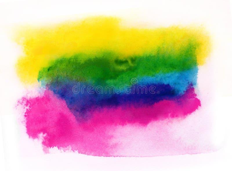 Σύσταση χρωμάτων watercolor Cmky στοκ εικόνες