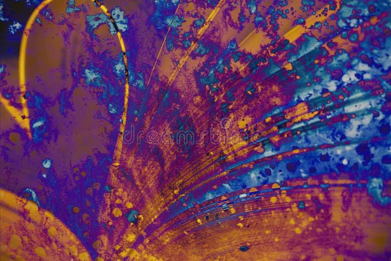 Σύσταση Faux που χρωματίζεται από το χρώμα ελεύθερη απεικόνιση δικαιώματος