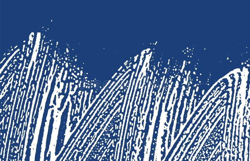 Σύσταση Grunge Τραχύ ίχνος λουλακιού κινδύνου επιπλέον διανυσματική απεικόνιση