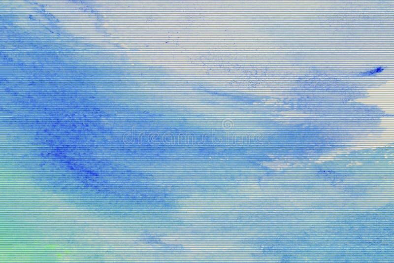 Σύσταση Watercolor με τη δυσλειτουργία επίδρασης για το υπόβαθρο στοκ εικόνες με δικαίωμα ελεύθερης χρήσης