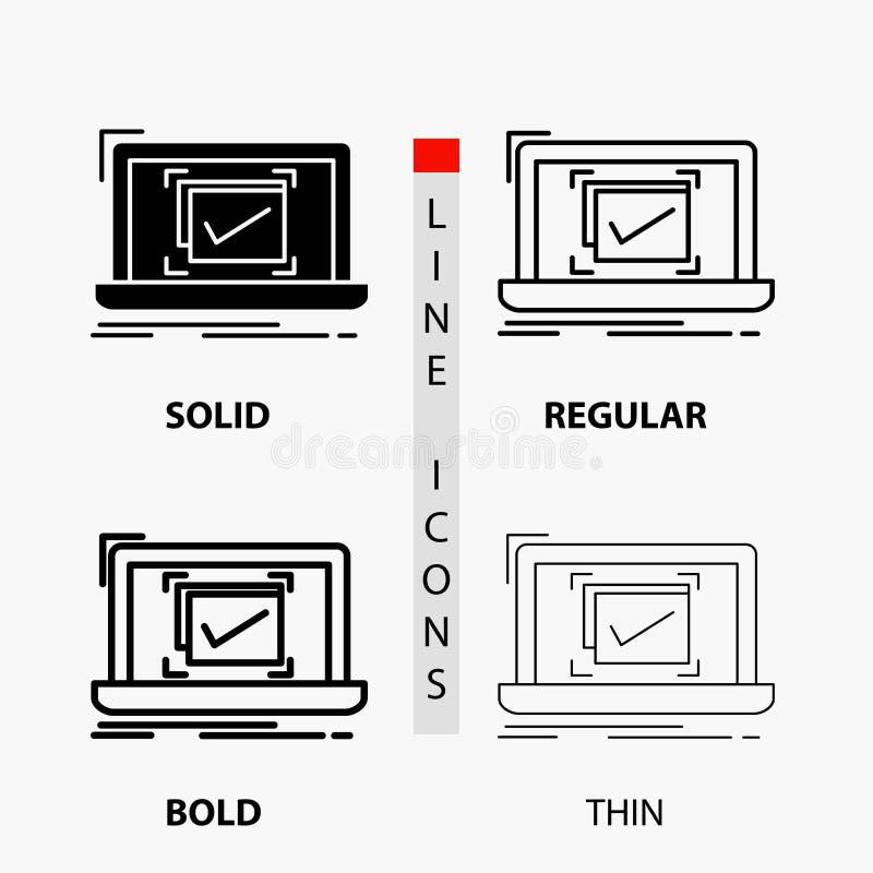 σύστημα, έλεγχος, πίνακας ελέγχου, καλό, ΕΝΤΑΞΕΙ εικονίδιο στη λεπτά, κανονικά, τολμηρά γραμμή και το ύφος Glyph r ελεύθερη απεικόνιση δικαιώματος