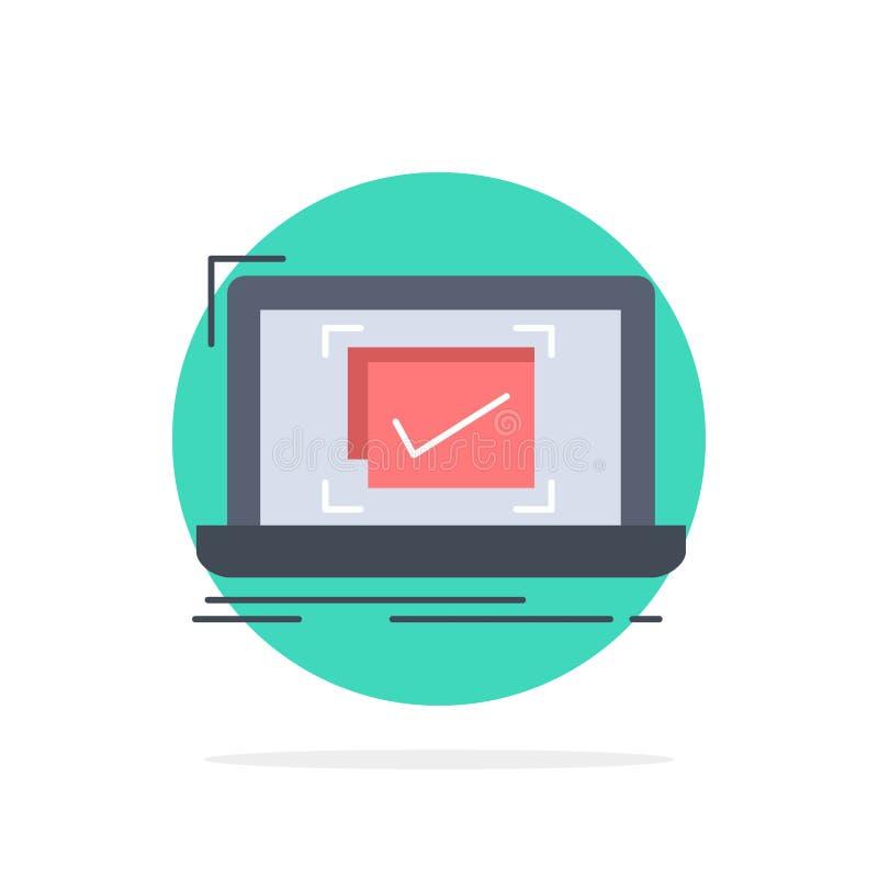 σύστημα, έλεγχος, πίνακας ελέγχου, καλό, ΕΝΤΑΞΕΙ επίπεδο διάνυσμα εικονιδίων χρώματος απεικόνιση αποθεμάτων