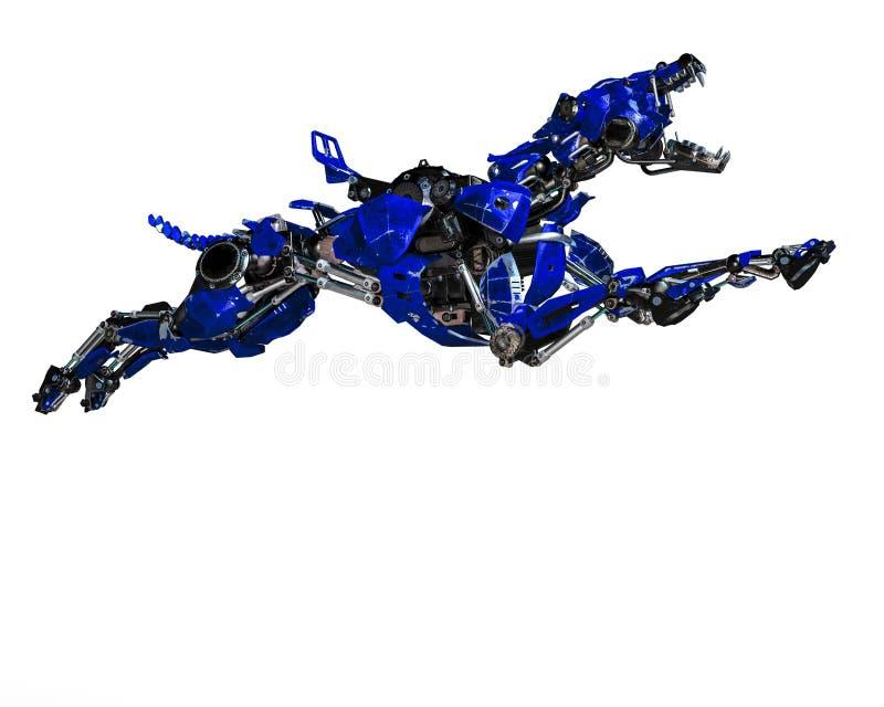 Σύστημα ασφαλείας ρομπότ σκυλιών φρουράς μπλε διανυσματική απεικόνιση