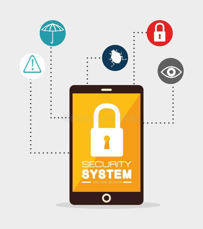 Download Σύστημα ασφαλείας και επιτήρηση Απεικόνιση αποθεμάτων - εικονογραφία από λουκέτο, ψηφιακός: 62703376