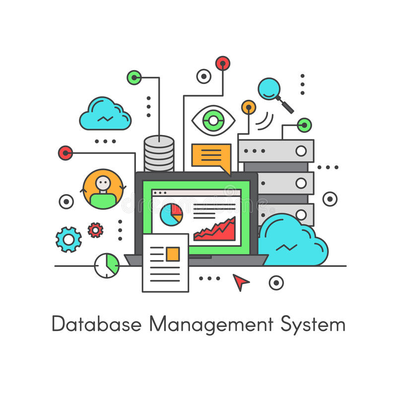 Σύστημα διαχείρισης ΠΔΒΔ (πρόγραμμα διαχείρησης βάσεων δεδομένων) βάσεων δεδομένων ελεύθερη απεικόνιση δικαιώματος