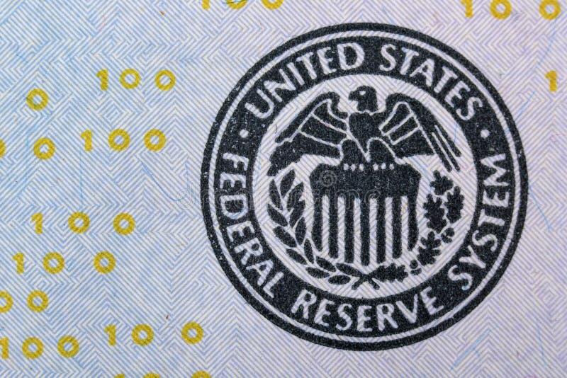 Σύστημα Κεντρικής Τράπεζας των ΗΠΑ στοκ φωτογραφίες