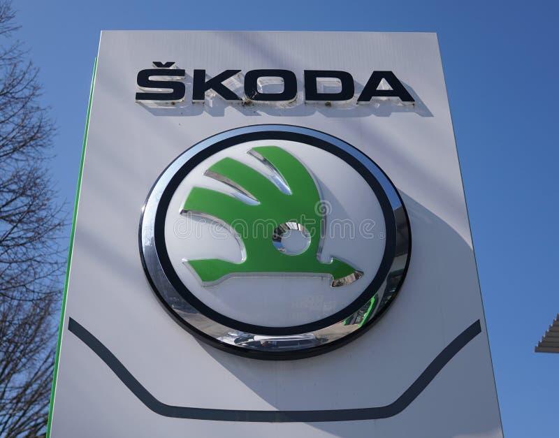 Σύστημα σηματοδότησης εμποριών αυτοκινήτων Skoda στοκ φωτογραφία με δικαίωμα ελεύθερης χρήσης