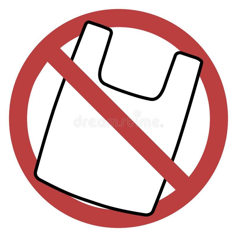 Απαγόρευση πλαστικών τσαντών ελεύθερη απεικόνιση δικαιώματος