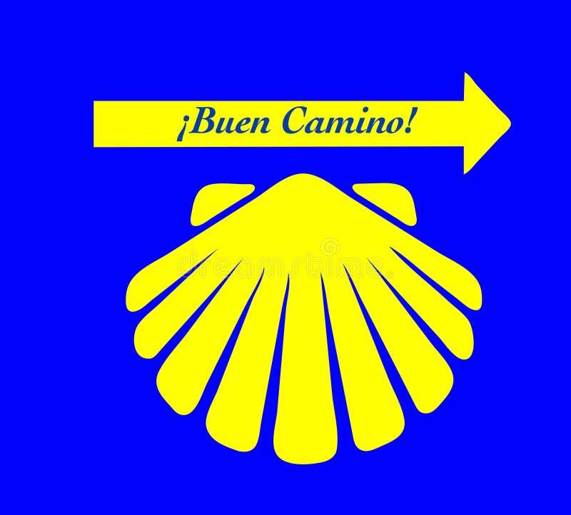 Σύστημα σηματοδότησης Camino Buen απεικόνιση αποθεμάτων
