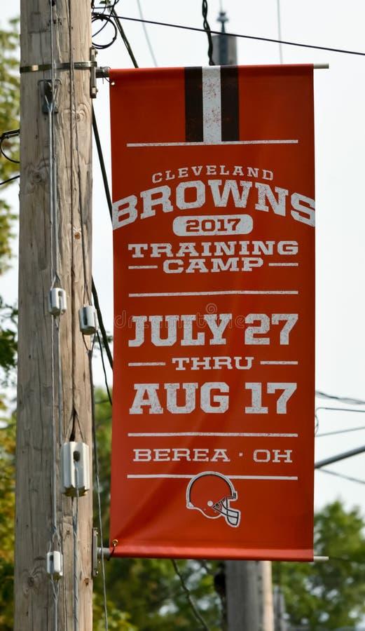 2017 σύστημα σηματοδότησης στρατόπεδων κατάρτισης των Cleveland Browns NFL στοκ εικόνες