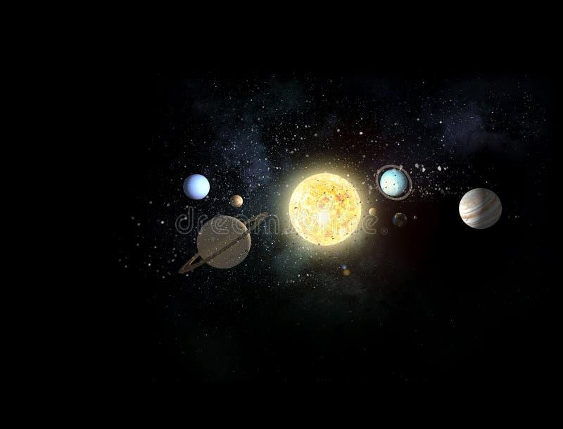 Σύστημα των πλανητών Μικτά μέσα ελεύθερη απεικόνιση δικαιώματος
