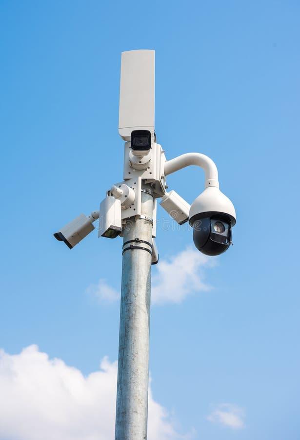 Σύστημα CCTV πολυ-γωνίας στοκ φωτογραφία με δικαίωμα ελεύθερης χρήσης