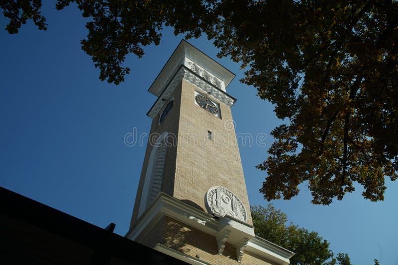 Σ' αγαπώ κέντρο πόλεων του Ουζμπεκιστάν πύργων ρολογιών της Τασκένδης στοκ εικόνα