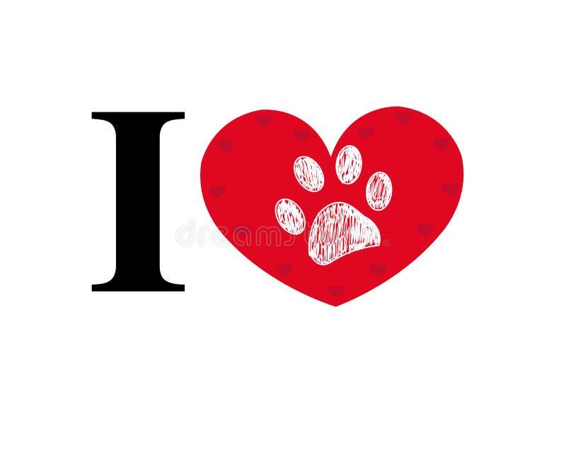 Σ' αγαπώ κείμενο φιαγμένο από κόκκινη καρδιά τυπωμένων υλών ποδιών απεικόνιση αποθεμάτων