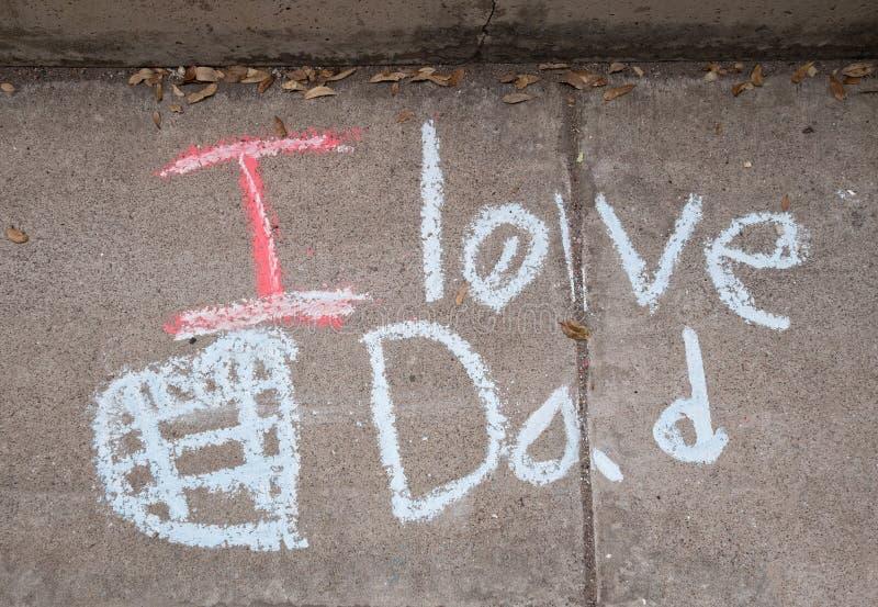 Σ' αγαπώ μπαμπάς στοκ εικόνα