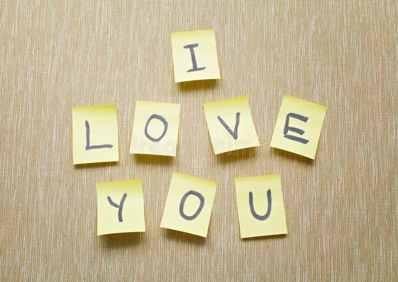 Σ' αγαπώ υπόμνημα στοκ φωτογραφίες