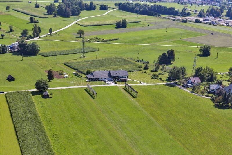 Σλοβένικο εναέριο τοπίο επαρχίας στοκ εικόνες με δικαίωμα ελεύθερης χρήσης