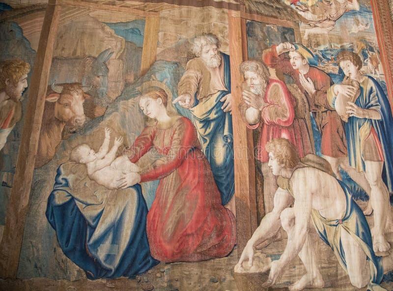 Τάπητας τοίχων σε Βατικανό στοκ εικόνες