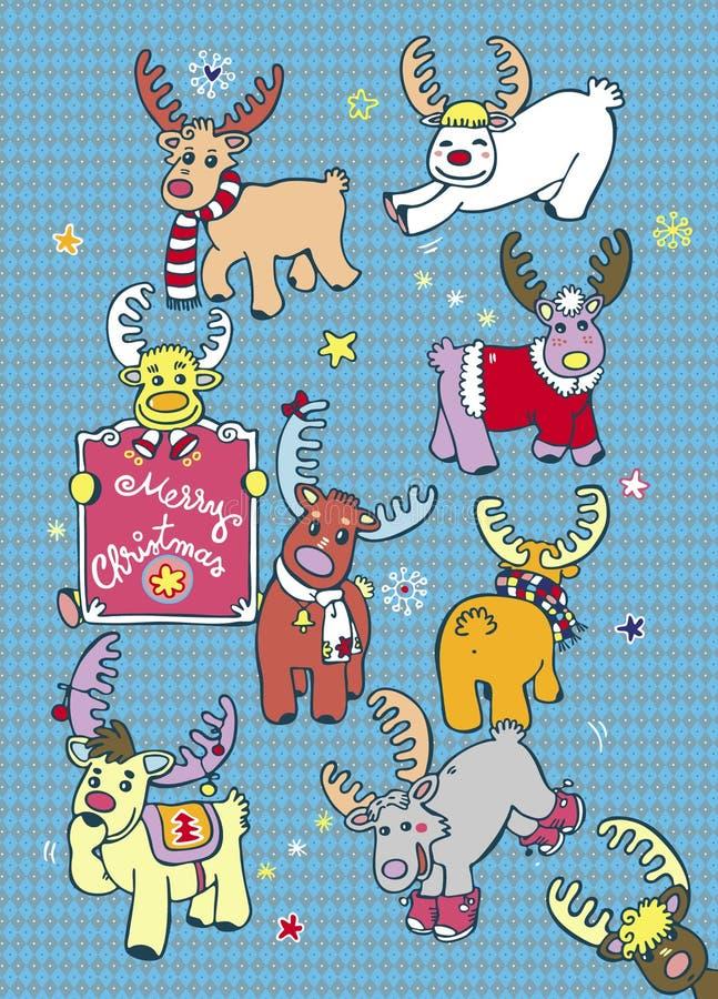 τάρανδοι Χριστουγέννων κ&alp ελεύθερη απεικόνιση δικαιώματος