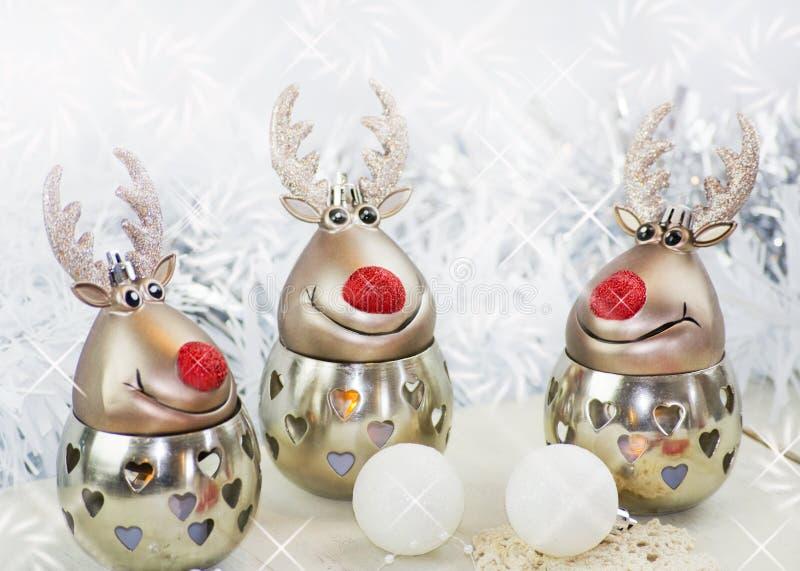 Τάρανδος Χριστουγέννων στο μόριο στοκ εικόνες με δικαίωμα ελεύθερης χρήσης