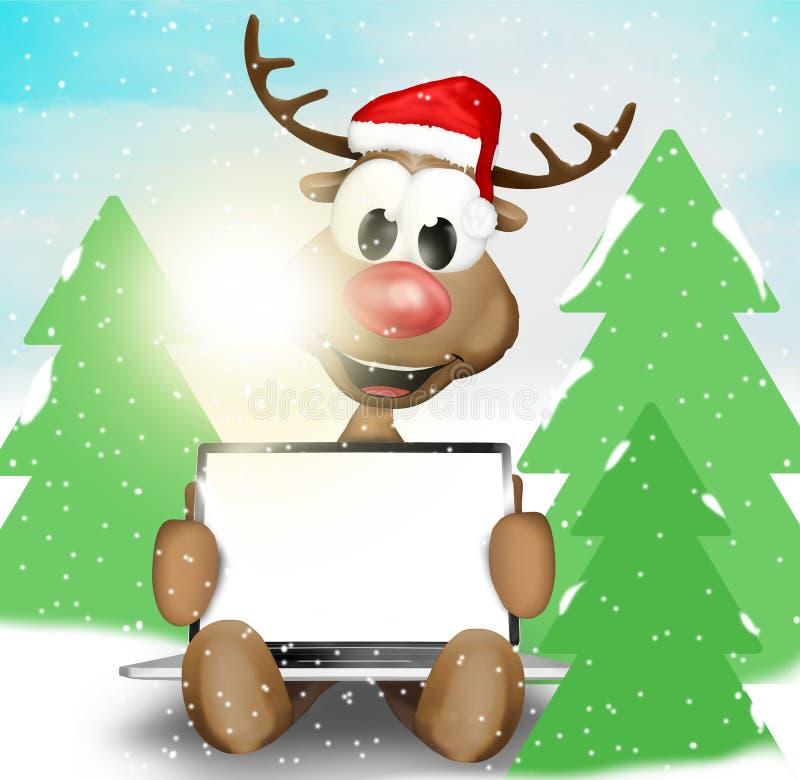 Τάρανδος Χριστουγέννων απεικόνιση αποθεμάτων