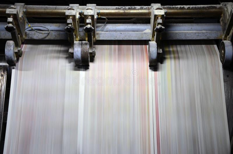 τάση εκτύπωσης όφσετ στοκ φωτογραφία με δικαίωμα ελεύθερης χρήσης