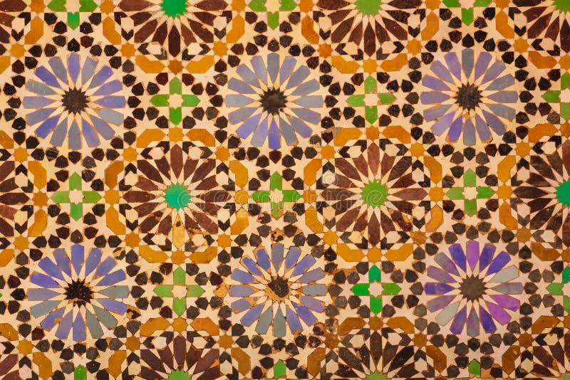 Τάφοι Saadian λεπτομέρεια Μαρακές Μαρόκο στοκ φωτογραφίες με δικαίωμα ελεύθερης χρήσης