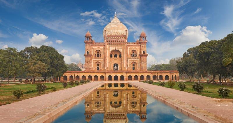 Τάφος Νέο Δελχί, Ινδία Humayun στοκ φωτογραφίες