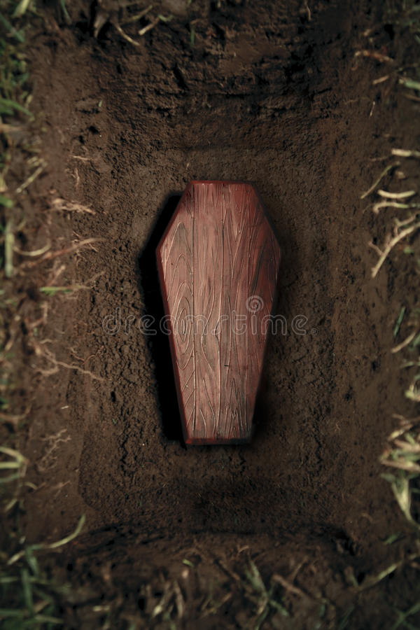 τάφος νεκροταφείων φέρετ&rh στοκ φωτογραφία με δικαίωμα ελεύθερης χρήσης