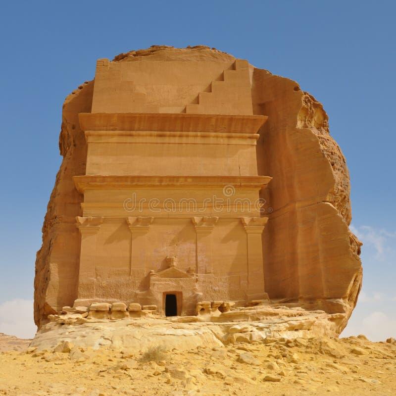 Τάφος στο βράχο - έρημος περιοχών Archeological landcape στοκ φωτογραφίες με δικαίωμα ελεύθερης χρήσης