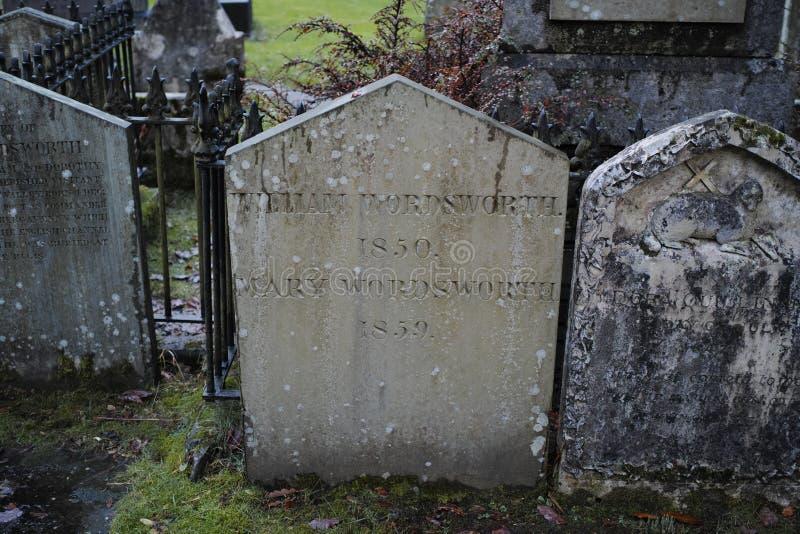 Τάφος του William Wordsworth στην εκκλησία κοινοτήτων Gasmere στοκ εικόνες με δικαίωμα ελεύθερης χρήσης