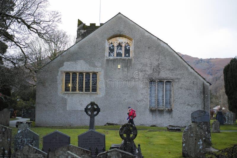 Τάφος του William Wordsworth στην εκκλησία κοινοτήτων Gasmere στοκ εικόνες