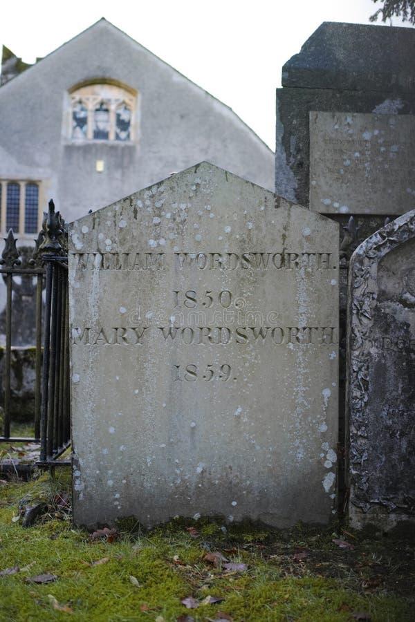 Τάφος του William Wordsworth στην εκκλησία κοινοτήτων Gasmere στοκ εικόνα