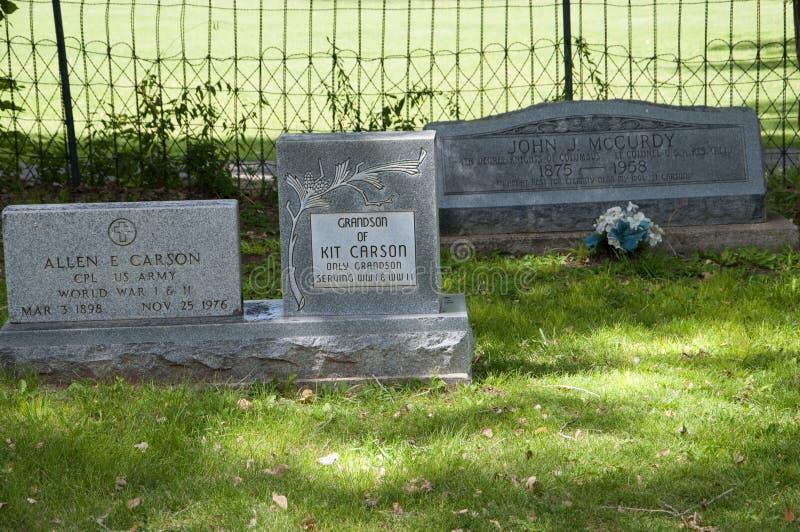 Τάφος των απογόνων του Carson εξαρτήσεων στο Νέο Μεξικό ΗΠΑ Taos στοκ εικόνες
