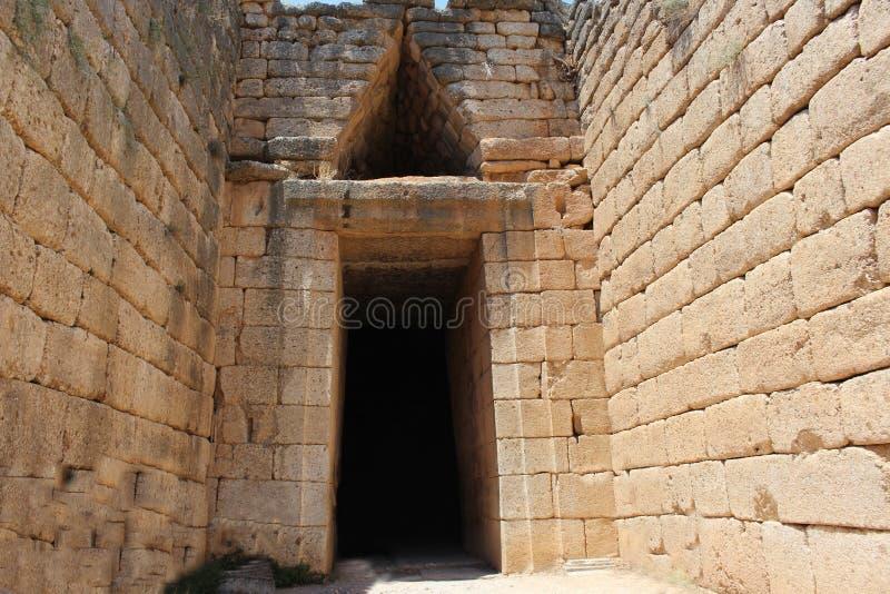 Τάφος Agamemnon στην Ελλάδα στοκ εικόνα