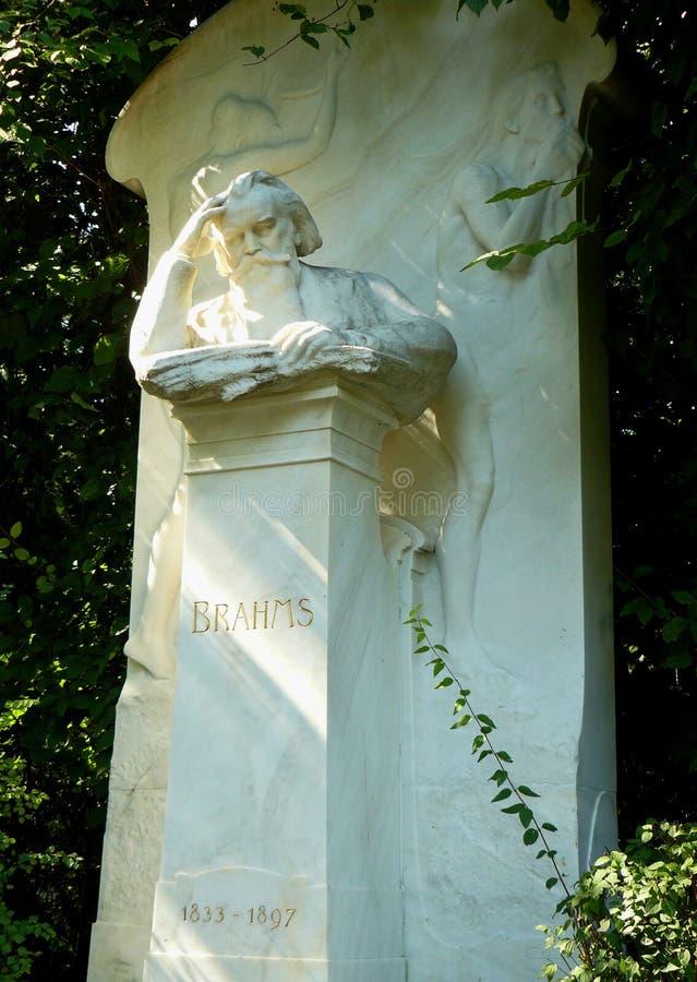 Τάφος Brahms Jahannes στη Βιέννη στοκ φωτογραφίες με δικαίωμα ελεύθερης χρήσης