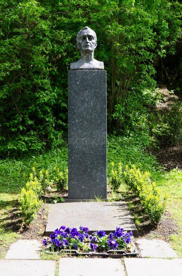 Τάφος Edvard Munch στο νεκροταφείο του λυτρωτή μας στοκ εικόνες