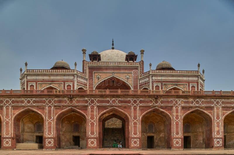 Τάφος Humayun μια περιοχή Δελχί ΙΝΔΊΑ παγκόσμιου hertage της ΟΥΝΕΣΚΟ στοκ φωτογραφίες