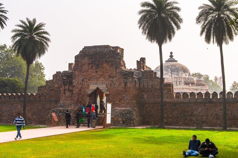 Τάφος Humayun σύνθετος, ο τάφος του αυτοκράτορα Humayun Mughal μέσα στοκ εικόνες με δικαίωμα ελεύθερης χρήσης
