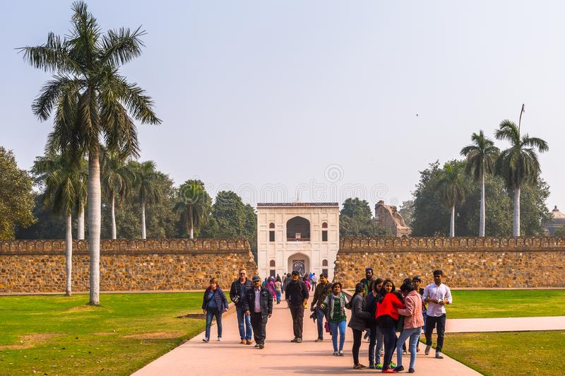 Τάφος Humayun σύνθετος, ο τάφος του αυτοκράτορα Humayun Mughal μέσα στοκ φωτογραφίες με δικαίωμα ελεύθερης χρήσης