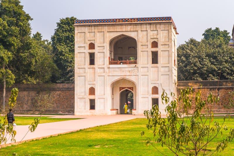 Τάφος Humayun σύνθετος, ο τάφος του αυτοκράτορα Humayun Mughal μέσα στοκ φωτογραφία