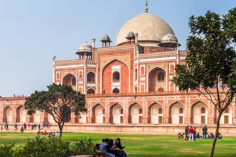 Τάφος Humayun σύνθετος, ο τάφος του αυτοκράτορα Humayun Mughal μέσα στοκ φωτογραφίες